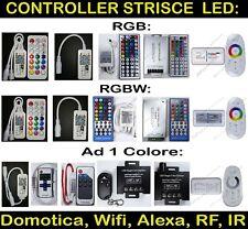 CONTROLLER Telecomando per striscia led RGB  RGBW Colore singolo IR RF 12-24v