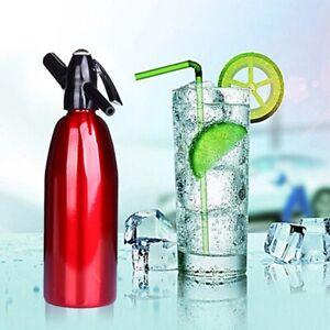 Home Soda Water Siphon Aluminium Soda SparklingWater Maker FizzCocktail Bartener