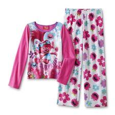 Trolls Pijama niña manga larga polar rosa Girl Polar fleece Long Pyjama