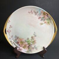 Antique Rosenthal R C Kronach Bavaria Sylvia Cake Plate Wild Roses c1901