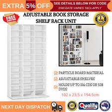Adjustable Display Organizer Bookcase Shelf Storage Rack Shelving Book White