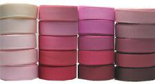 "6y Mixed Pink Shades 50mm 2"" Premium Grosgrain Ribbon Eco HeavyGift"