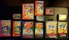 Sonic the Hedgehog 1 2 3 & Spinball Lot Sega Genesis  Complete Tested