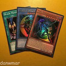 Dark Magician of Chaos + Black + Illusion Ritual Ultra Rare 1st Edition YuGiOh!
