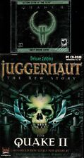 Quake II 2 plus expansion Juggernaut Deluxe Edition Pc Both Brand New