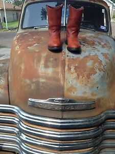 1990 VINTAGE USA RED WING RUST LEATHER WESTERN COWBOY ENGINEER BOOTS 9.5 EE