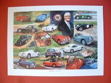 Jaguar  XK120, XK140, XK150 Sir William Lyons Vintage British car art print