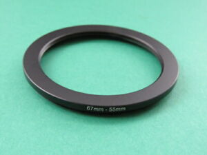 67mm-55mm 67-55 Stepping Step Down Male-Female Filter Ring Adapter 67mm-55mm