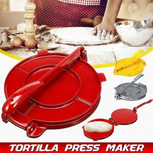 8 inch Tortilla Press Maker Aluminum Foldable Flour Corn Baking Kitchen Tool