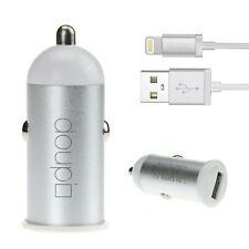 2in1 USB Auto Lade Gerät Adapter Kabel iPhone 7 6 6S Plus 5 5C 5S SE iPod Weiß