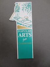BOOKMARK Cambridge University Press Shaped Diecut Punting on the River ARTS