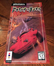 "Crash 'N Burn 3DO long box cover art video game 24"" poster print n 3D0 Panasonic"