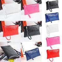 New Womens Handbags Ladies Handbags Purse Crocodile Leather Handbag Long Wallets