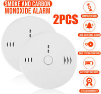 2pcs Smoke Detector Combination Carbon Monoxide and Smoke Alarm Battery Operate