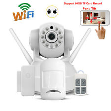 720P HD Wireless Webcam Linkage Alarm Security Baby Monitor Wifi IP Camera Set