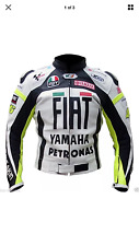 YAMAHA MOTORCYCLE MOTORBIKE RACING LEATHER JACKET CE APPROVED PROTECTION