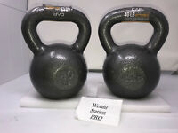 PAIR 2x CAP Kettlebell Weight - 40 LB Each 80 LB Total Free Shipping