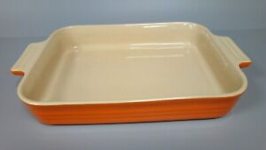 Le Creuset Stoneware Orange Rectangle Dish with Handles