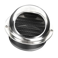 Circle Air Vent Grille Silver Round Wall Ventilation Cover Stainless 10cm