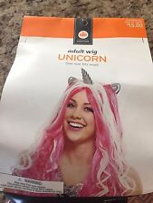 Adult UNICORN Wig Halloween Costume Brand New In Package