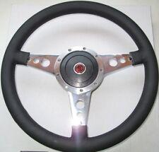 "New 14"" Leather Steering Wheel & Adaptor for MGB 1970-76  Moto-Lita Moto Lita"