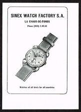 1950s Small Vintage 1951 Sinex Swiss Watch Paper Print Ad