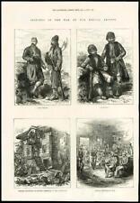 1877 antica stampa-GUERRA RUSSO TURCA DELL'ESERCITO OTTOMANO Circassian BASCI BUZUK (033