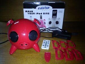 Evestar iPig - rot - Dockingstation iPhone iPod - Musikbox Lautsprecher in OVP