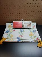 """Target Opalhouse 72/"""" x 14/"""" Cotton Textured Table Runner Pink Fringed Tasseled"""