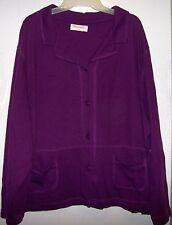 Bechamel Large Purple Button Down Long Sleeve 2 Pocket Sweater Shirt Plus Size