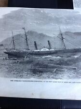 J1-6 Ephemera 1863 Folded Picture Coonabara Steamer Table Bay Cape Colony