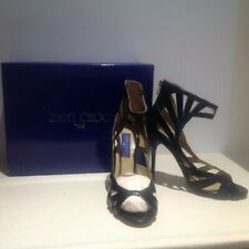 Jimmy Choo For H&M Black Cage Heels Size 40 New with Box & dust bag