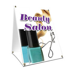 A-frame Sidewalk Sign Beauty Salon With Graphics On Each Side