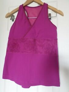 Lululemon purple tank top with built in bra removable pads size 10