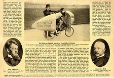 Velo Torpille Torpedo-Fahrrad Eine neue französische Erfindung c.1913