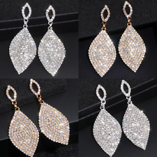 Evening Prom Party Bridal Earrings Luxury Statement Crystal Diamante Dangle Drop