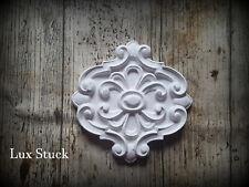 4 Stück Gips Verzierung  Dekor Ornament  Stuck gips Relief Stuckdekor