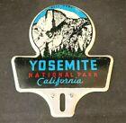 Vintage YOSEMITE NATIONAL PARK CA LICENSE PLATE TOPPER Rare Old Advertising Sign