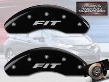 "2009-2019 Honda ""Fit"" Front Black Engraved MGP Brake Disc Caliper Covers 2pc Set"