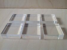 made in uk,fantastic quality stamping blocks set of 6 diffrent sizes,15mm thick