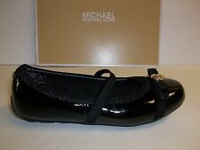 Michael Kors Size 8 M Rover Lux Strap Black Patent Flats New Toddler Girls Shoes