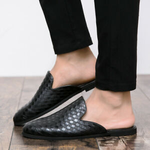 Men's Faux Leather Slippers Loafers Mules Sandals Pumps Slip On Breathable Shoes