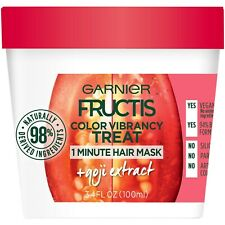 Garnier Fructis Color Vibrancy Treat 1-Minute Hair Mask w/Goji Extract - 3.4oz