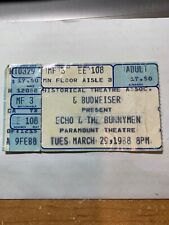 Echo & The Bunnymen Paramount Theatre Seattle 1988