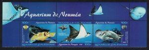 New Caledonia Stingray Eagle Ray Fish Noumea Aquarium 3v Top Strip 2004 MNH