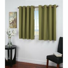 Sallie Short Solid Blackout Thermal Grommet Single Curtain Panel- Sage - NEW