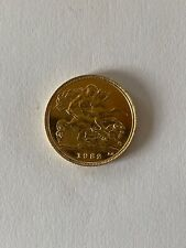 More details for superb 22ct gold 1982 half sovereign gold coin 22ct gold 1982 3.99 grams