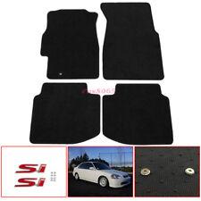 Fit 96-00 Honda Civic Nylon Floor Mats Carpets W/ Screw on SI Emblem Decal Badge