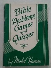 Vintage 1945 Bible Problems, Games and Quizzes Booklet