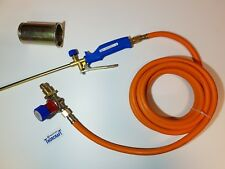 Extended long arm propane gas torch kit with adjustable regulator and 5M hose